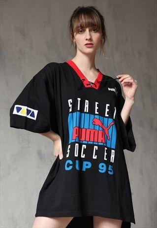 8fbc2a455028 Vintage+90 s+PUMA+Oversized+Print+T-shirt