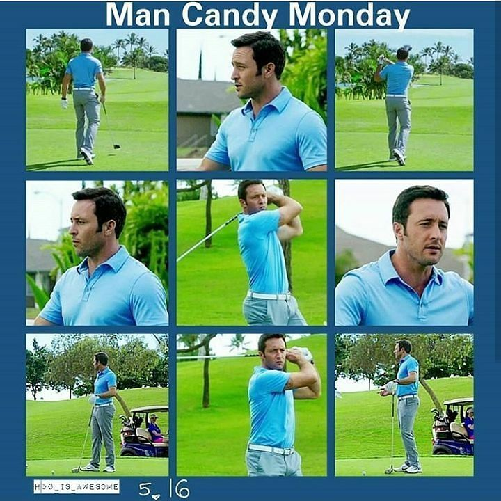 Man Candy Monday I mean can't you just stare at him in this outfit all day long!!??  #Mancandymonday #Alexoloughlin #Stevemcgarrett #Hawaii50 #S5E16 #Yummy
