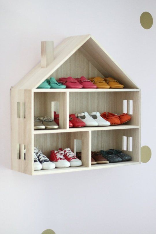 The cutest kid shoe storage ever? We think so: Sienna's Gorgeous Nursery with Room for Guests