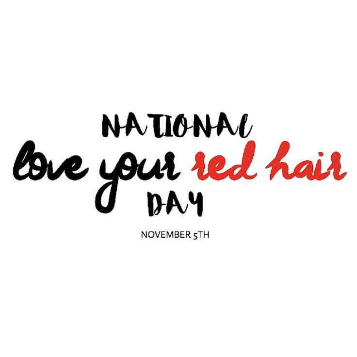 It's official! We can't wait to celebrate with all of you! Mark your calendars. Click the photo to read more about the day & why How to be a Redhead created it!