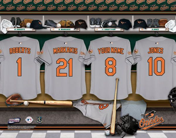 Man Cave Store Baltimore : Baltimore orioles mlb baseball personalized locker room