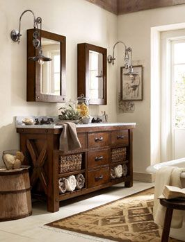 Downstairs bathroom ideas. Rustic Lodge Style Ideas