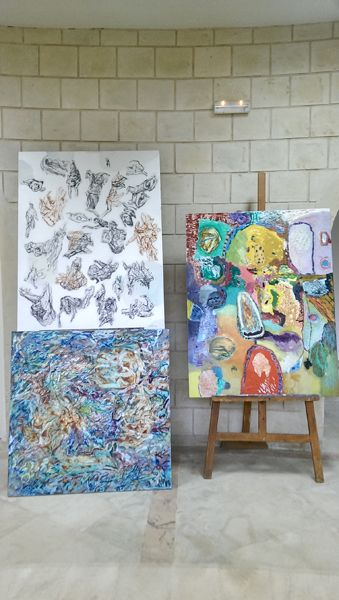 exhibition of the works I realised in the Monastir Internation Art Festival in TUNISIA   Maia Stefana Oprea