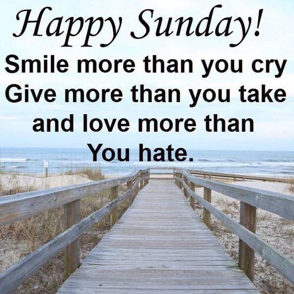 Happy Sunday Good Morning And God Bless Motivation
