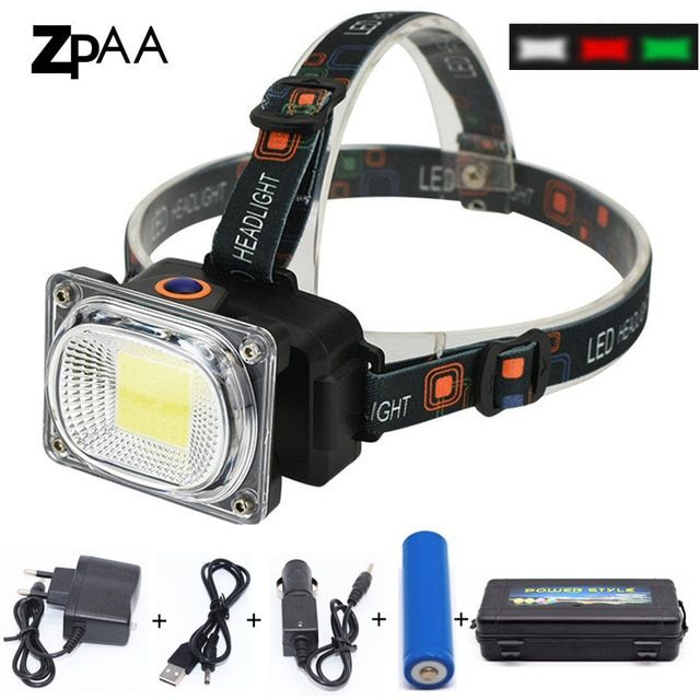 Rechargeable Headlamp LED Fishing Flashlight Torch Head Light Hunting Headlight