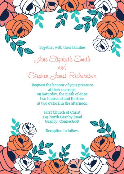templates for wedding invites