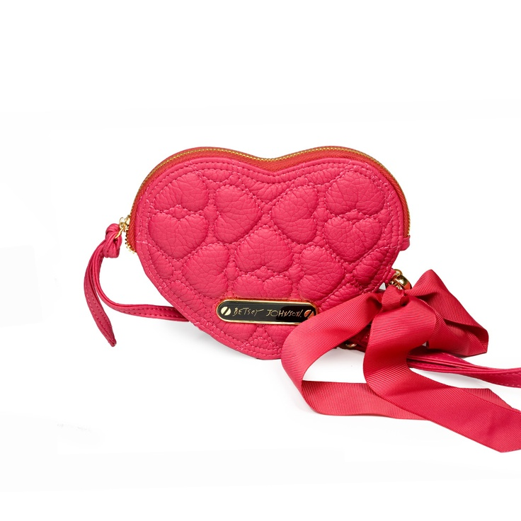 Little Black Bag | Quilted Heart Wristlet by Betsey Johnson