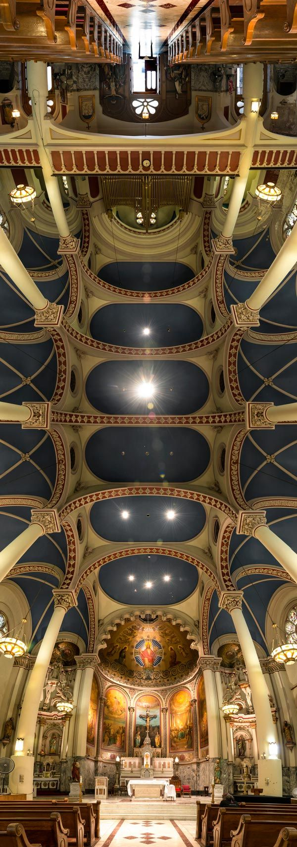 vertical panoramas of church ceilings (5) - Photograph by Richard Silver