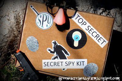 DIY Secret Agent Spy Kit Game from Green Acres Hobby Farm