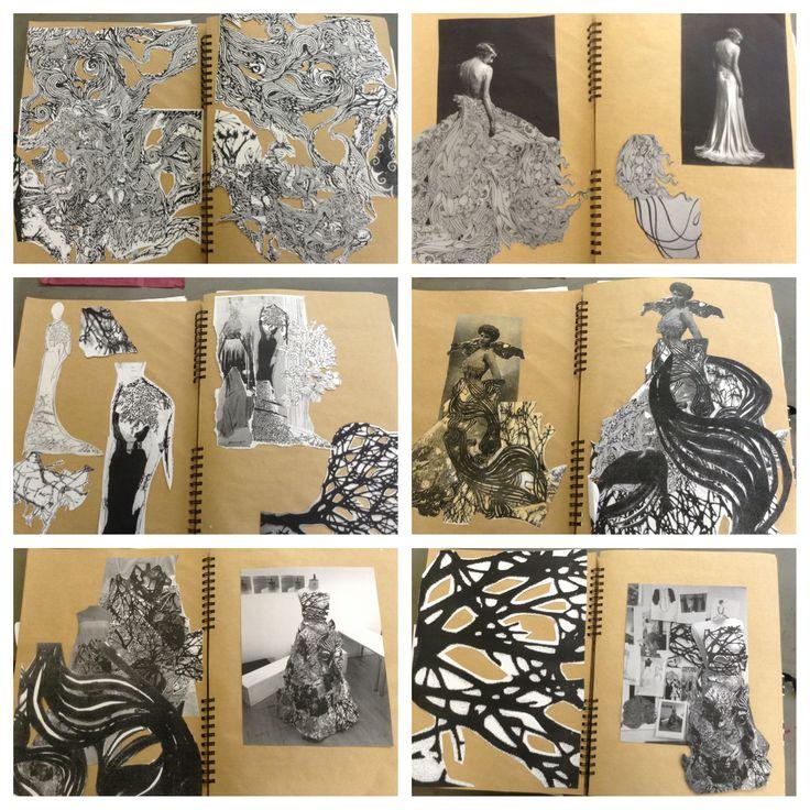Fashion design sketchbook central saint martins