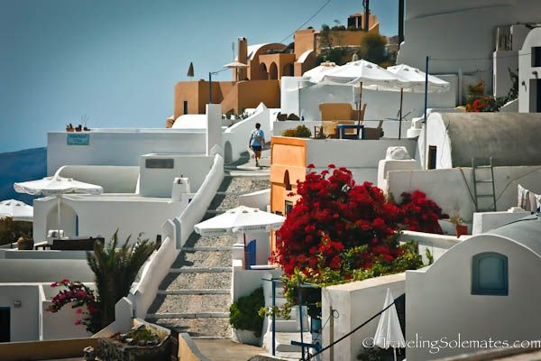 santorini street - Bing Images
