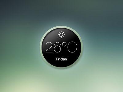 Minimal Weather Widget by Cris Labno