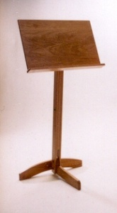 wood music stand