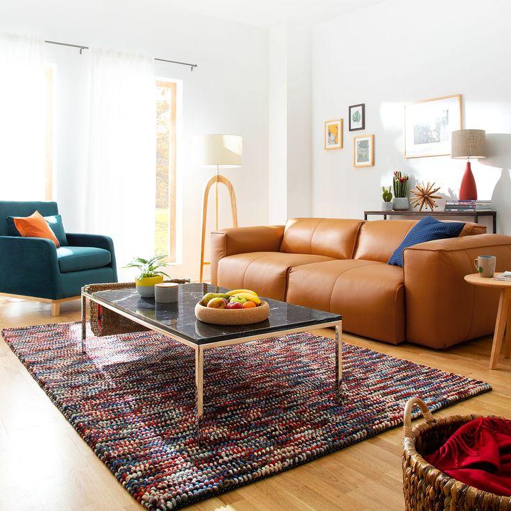 Sofa Hudson II (3-Sitzer) aus echtem Leder