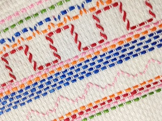 Well, Wadaya know...a needle craft I haven't tried. Yet. Swedish Weaving, or Huck Embroidery, or several other names.