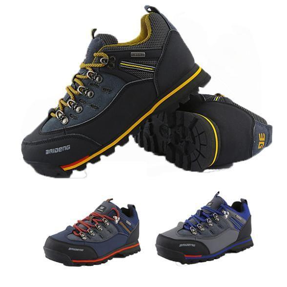 Купить товарНовые поступления мода кожа непромокаемую обувь походы мужчин загрузки новый открытый Fun и спорт горный треккинг ботинки охотничьи сапоги в категории Треккинговые ботинкина AliExpress.
