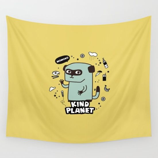 KIND PLANET Wall Tapestry