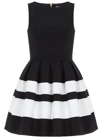 Dorothy Perkins Navy stripe band dress