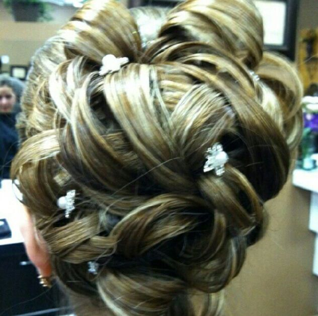 Beautiful up-do by Katherine.