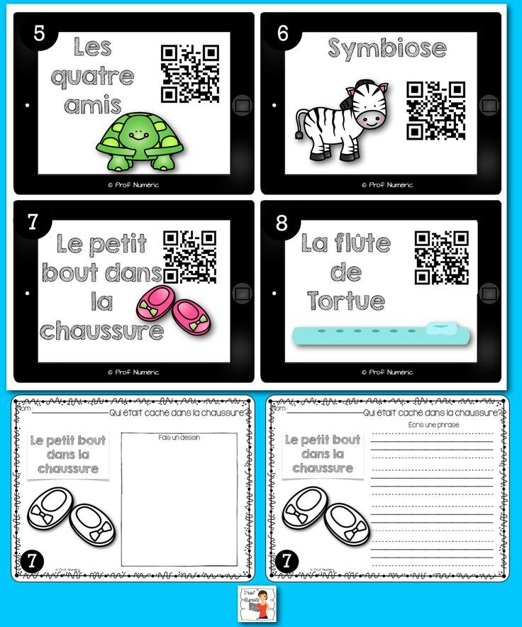 Ce fichier numérique est parfait pour vos ateliers des 5 au quotidien. Placez les 12 cartes, avec les codes QR, dans votre coin lecture ou dans votre coin iPad. Les Codes QR sont très faciles à utiliser avec de jeunes élèves.
