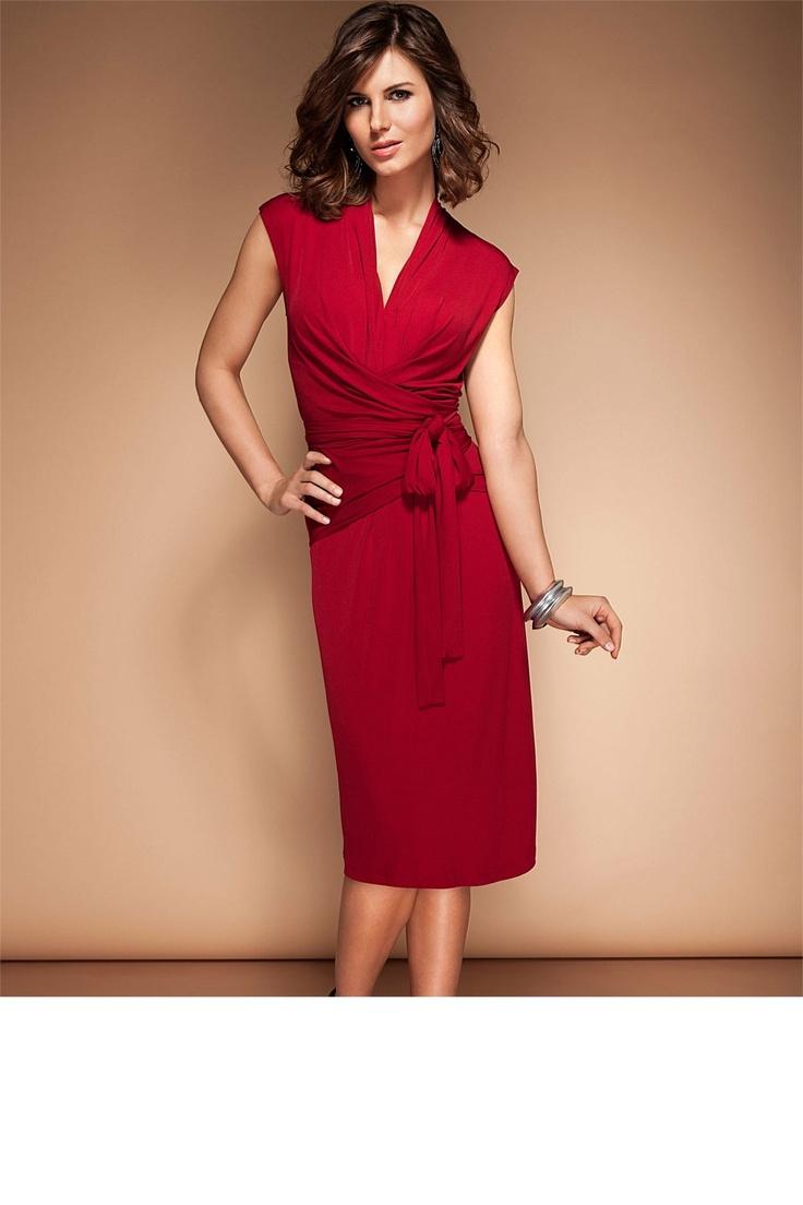 Day Sun Dress - Dresses - Grace Hill Mock Wrap Dress - EziBuy Australia