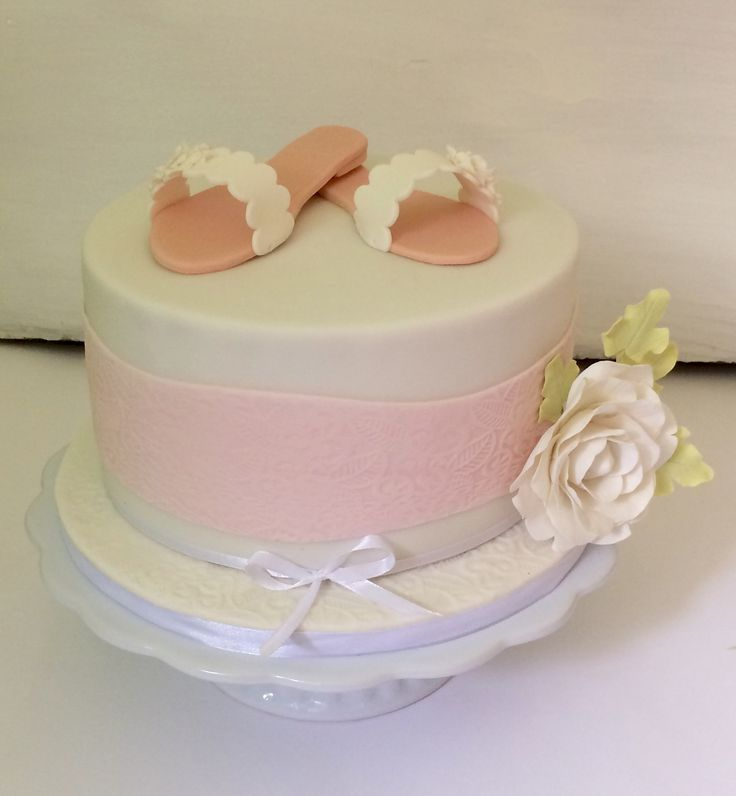Lovely cake with shoes