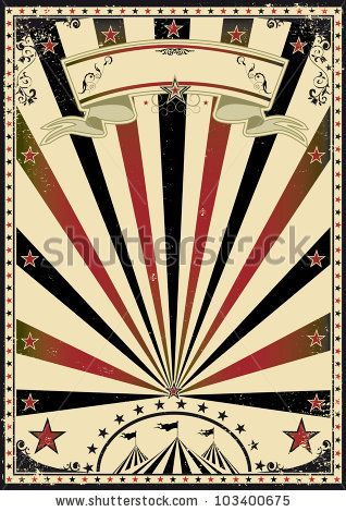 stock vector : Circus vintage sunbeams. A retro circus poster for your advertising