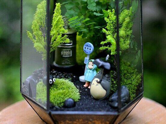 Totoro terrarium. I NEED THIS!!!
