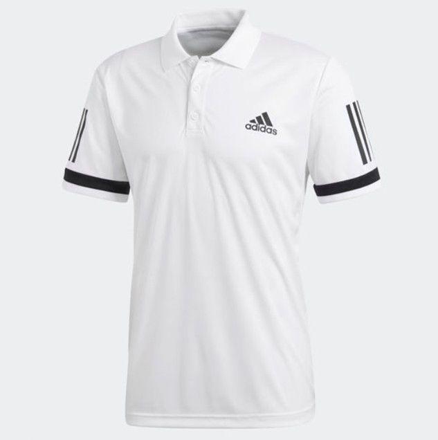 18d5f416 adidas Men's 3 Stripes Tennis Club Polo Shirt Climacool White Black CE1415 # adidas #ShirtsTops