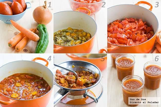 Cómo hacer salsa de tomate casera fácilmente paso a paso