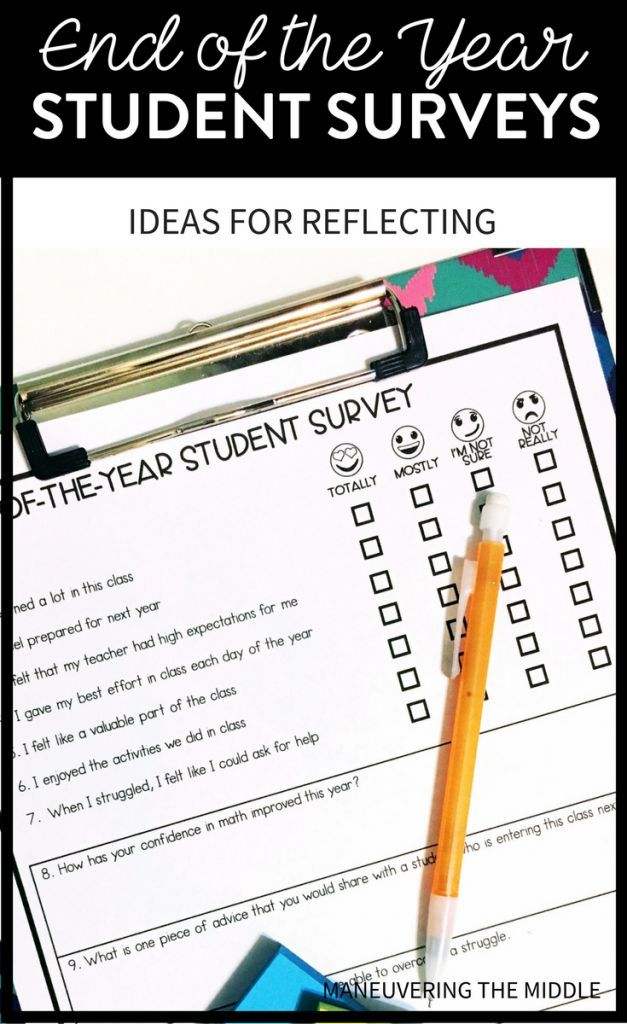End-of-the-year student surveys can help students and teachers reflect on the year and improve for next!