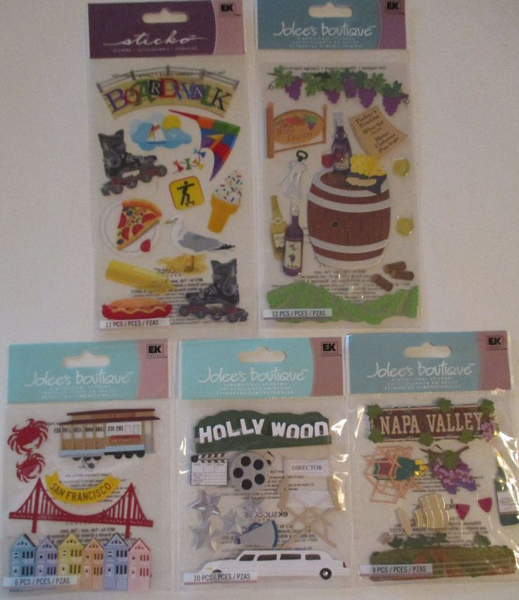 Jolee's Boutique & Sticko Scrapbooking Sticker Lot CALIFORNIA San Francisco…