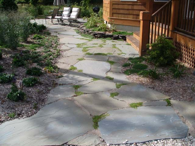 Flagstone Walkways Paths : Best images about flagstone paths walkways on