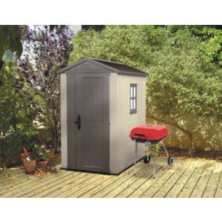 buy keter apex plastic garden shed 6 x 4ft at argosco