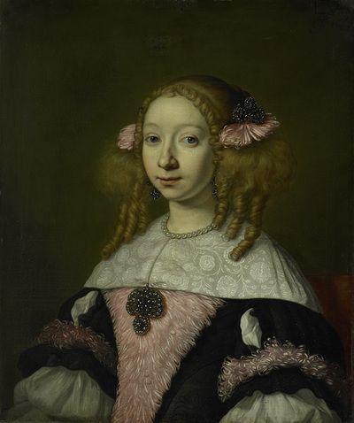Portrait of Adriana Jacobusdr Hinlopen, Wife of Johannes Wijbrants   Lodewijk van der Helst   1667   Rijksmuseum   Public Domain Marked