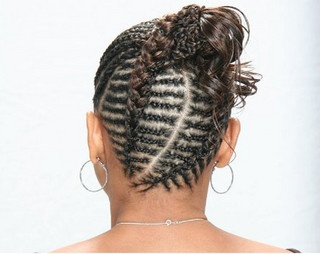 Cornrows updo by Thirsty Roots, via Flickr
