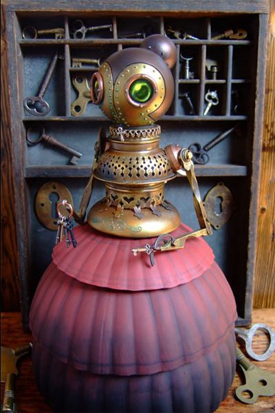 Steampunk Automaton Toy  - reminds of Aunt Fanny on the wonderful and fun animated movie ROBOTS.  :)