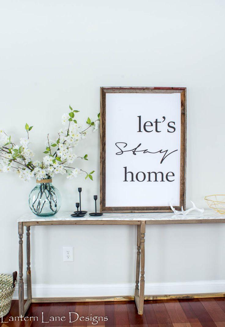 Let's Stay Home Free Printable - Lantern Lane Designs