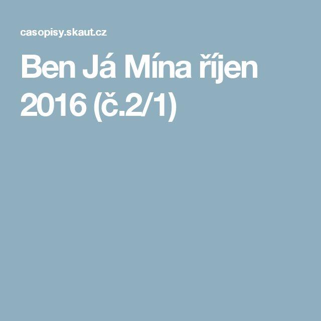 Ben Já Mína říjen 2016 (č.2/1)