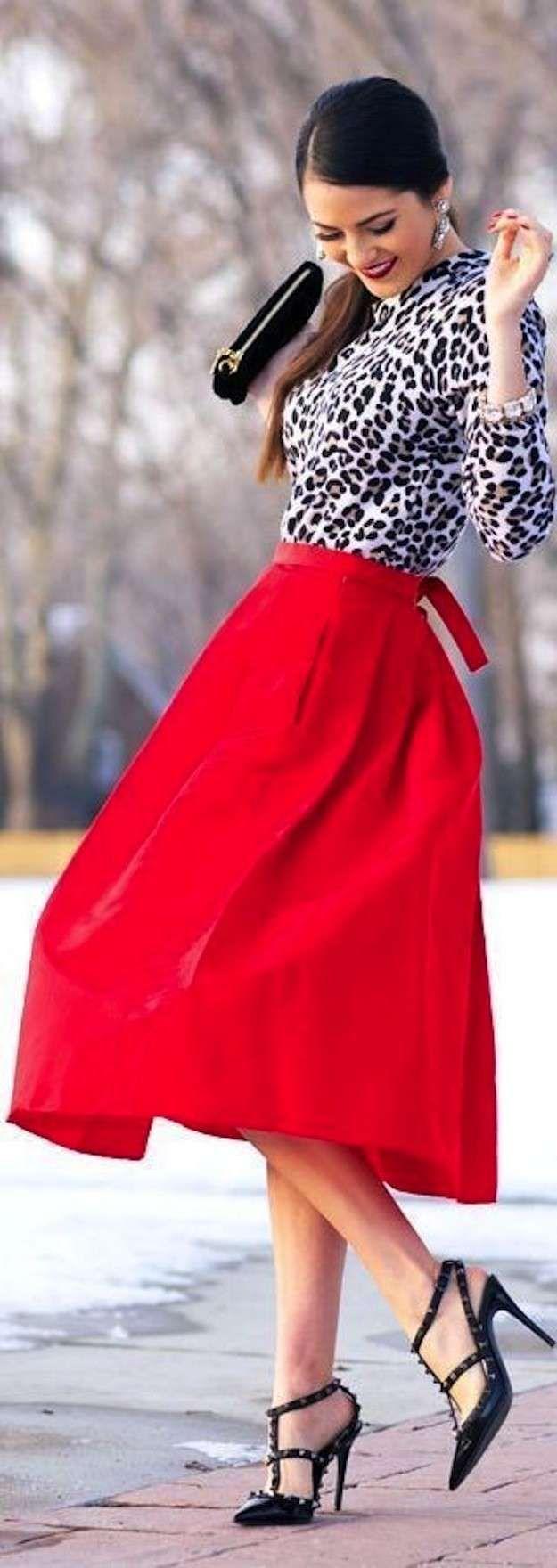 Faldas años 50: Fotos de los modelos - Top y falda