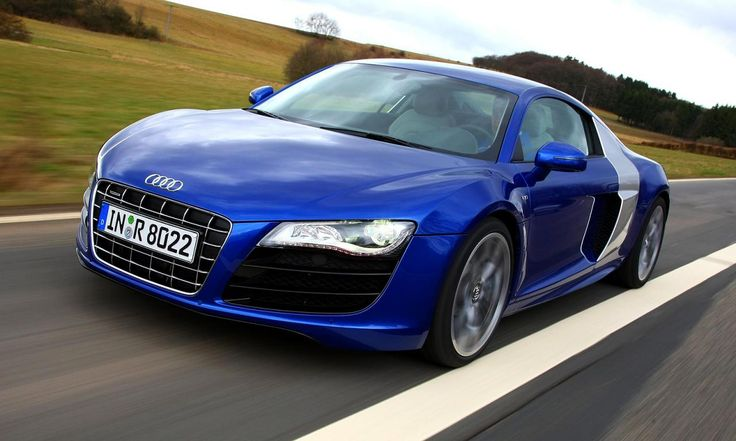 audi r8 v10 in electric blue with silver side panels my dream car. Black Bedroom Furniture Sets. Home Design Ideas