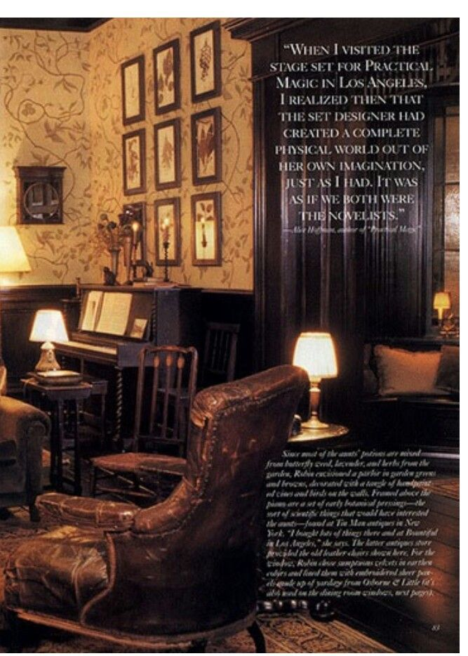 Set Of Parlor From The Movie Practical Magic Victoria Magazine