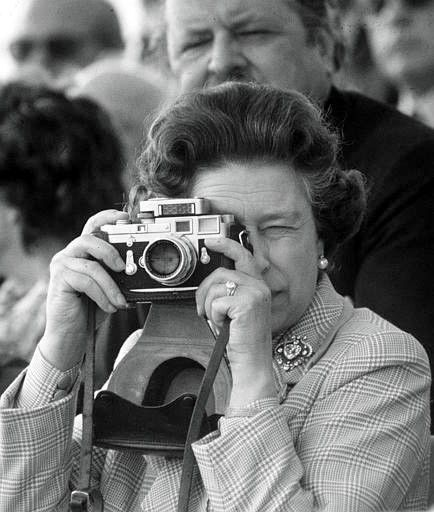 HRH Queen Elizabeth & Her Leica