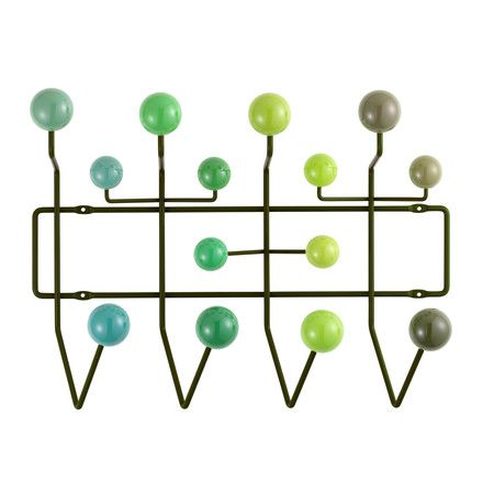 Vitra - Hang it all Garderobe, grün Grün T:17 H:37 B:50