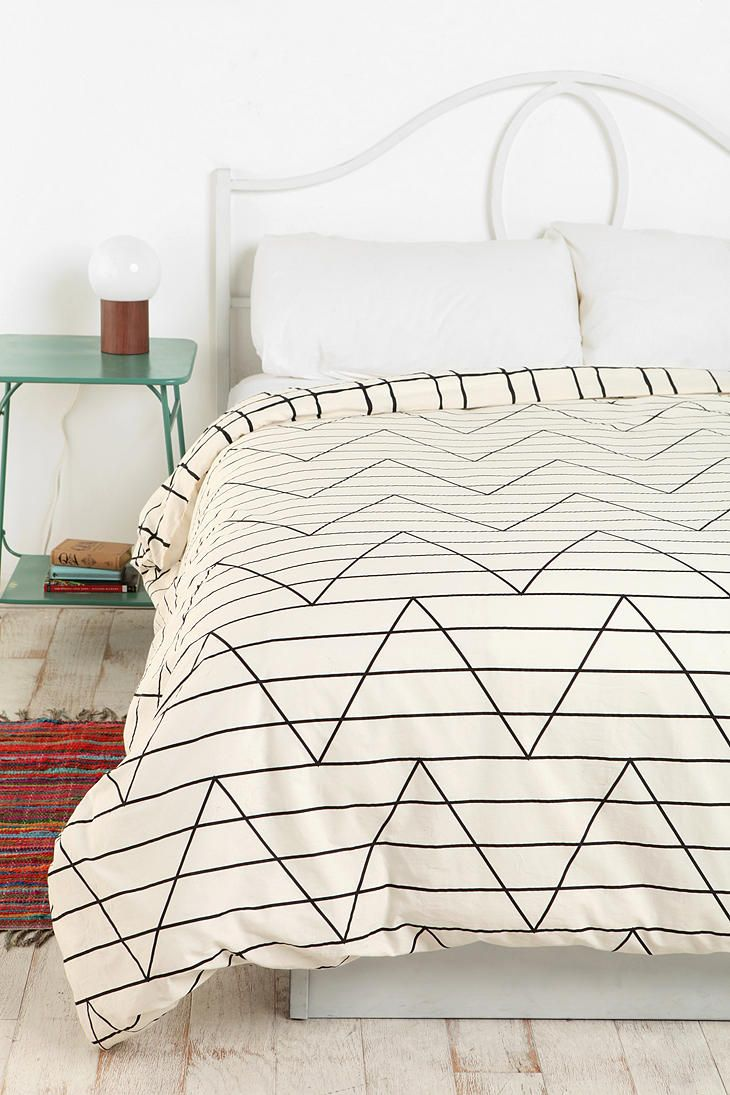 Between The Lines Duvet Cover: Beds Covers, Urban Outfitters, Duvet Covers, Apartment Design, Beds Spreads, Bedside Tables, Urban Beds, Beds Linens, Design Home