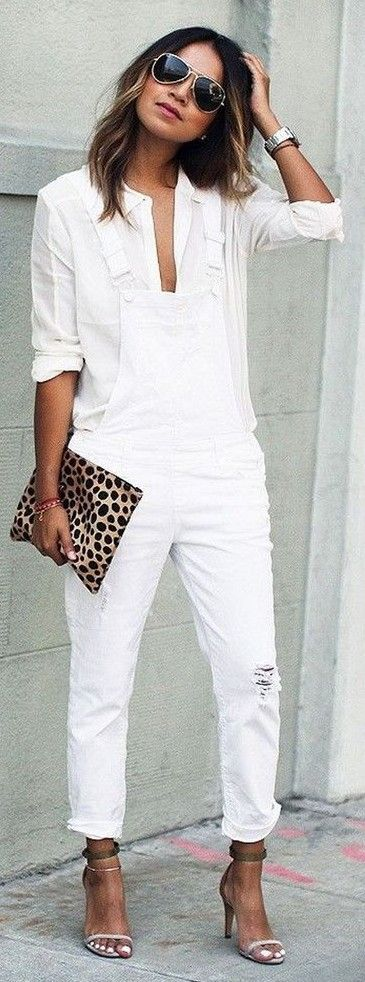 #spring #fashion | All White Casual Office Look + Pop of Leo | Sincerely Jules