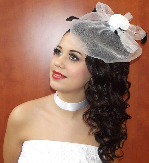 """Esküvői smink és haj (""""Feketén a hófehér"""") 3."""