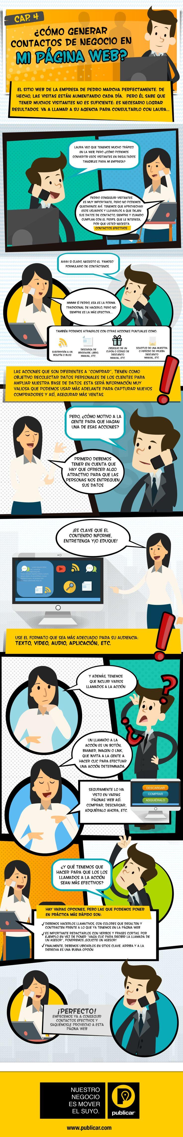 Cómo generar contactos para tu empresa en tu web #infografia #infographic #marketing