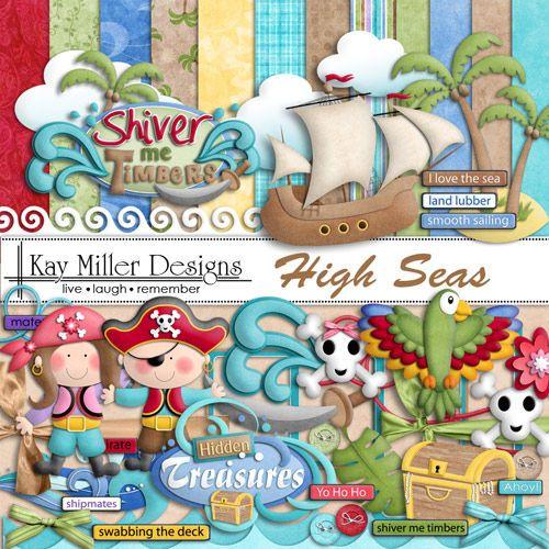 Скрап-набор High Seas