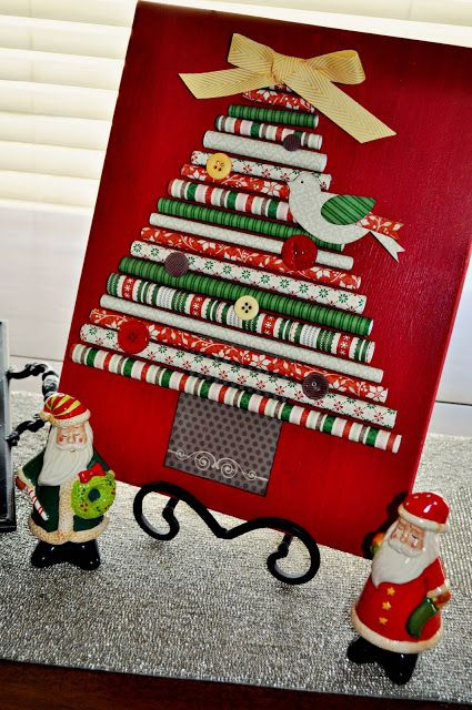 DCWV Diary: Rolled Paper Christmas Tree Decoration